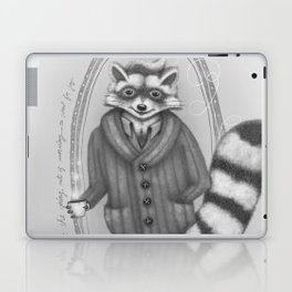 Morning -- Black and White Variant Laptop & iPad Skin
