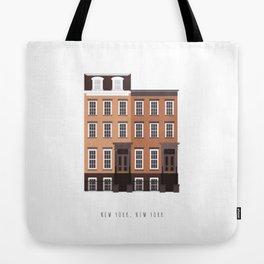 New York, NY Brownstone Tote Bag