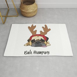 Bah Humpug Reindeer Dog Rug