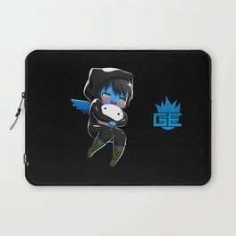 Fuzzy Chibi Luc (Expression 1) w/ Black Background Laptop Sleeve