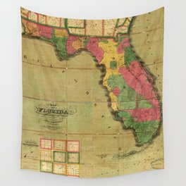 Map of Florida (1829) Wall Tapestry