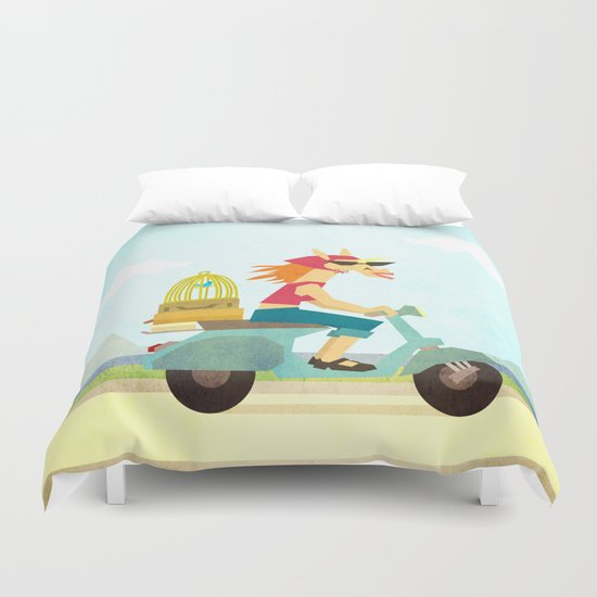 Enjoy the Ride Unicorn Duvet Cover