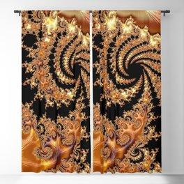 Toffee and Caramel Golden Brown Spiral Mandelbrot Set Fractal Art  Blackout Curtain