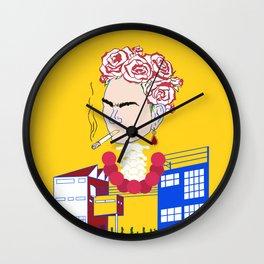 Abstract Frida Kahlo Wall Clock