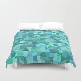 Teal rectangle mosaic Duvet Cover