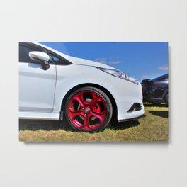 Red Alloys on a Fiesta Metal Print
