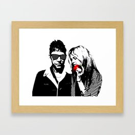 the Kills - Black and White with red Apple Framed Art Print