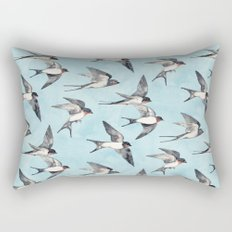 Blue Sky Swallow Flight Rectangular Pillow