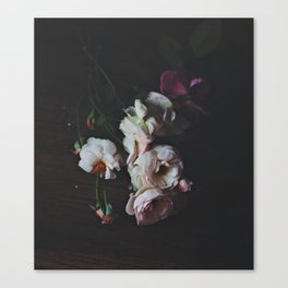 English Roses Still Life - Dark Number Two Canvas Print