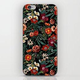 Marijuana and Floral Pattern iPhone Skin