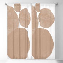 Minimalist Beige Art Blackout Curtain