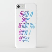 ship iPhone & iPod Cases featuring Ship by WRDBNR
