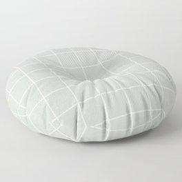 Gray Grey Sea Salt Grid Pattern Line Stripe Floor Pillow