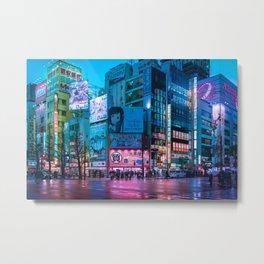 Akihabara Neon Dream Metal Print