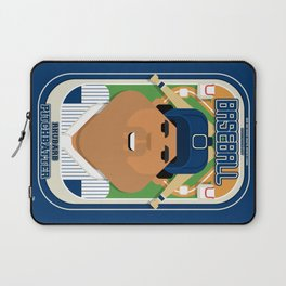 Baseball Blue Pinstripes - Rhubarb Pitchbatter - Seba version Laptop Sleeve