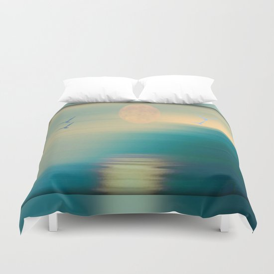 Tranquil Waters - Painterly Duvet Cover