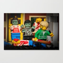 Night of the Lego Dead Canvas Print