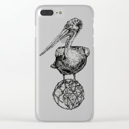 Holding on - The Dalmatian Pelican Clear iPhone Case