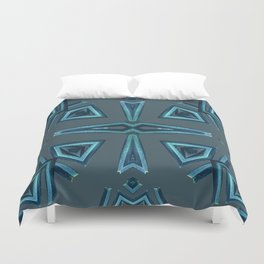 Blue Kaleido Palm Duvet Cover
