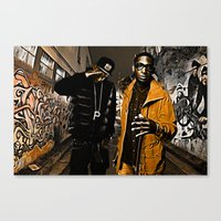 wiz khalifa Canvas Prints featuring Wiz & Tempah by D77 The DigArtisT