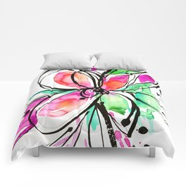 Ecstasy Bloom No. 1 by Kathy Morton Stanion Comforters