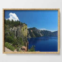 Crater Lake  and Lavacliffs Serving Tray