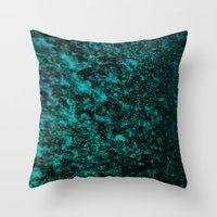Throw Pillows featuring A Study in  Turquoise by Mindssgreen