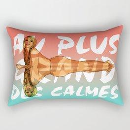 Brigitte au plus grand des calmes Rectangular Pillow