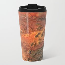 Mars mixed media on canvas, abstract art painting designs, contemporary artist colorful design Travel Mug