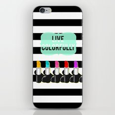 Live Colorfully iPhone & iPod Skin