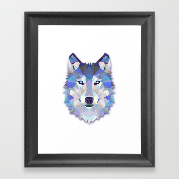Colorful Wolf Gerahmter Kunstdruck
