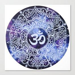 Om Galaxy Mandala Canvas Print