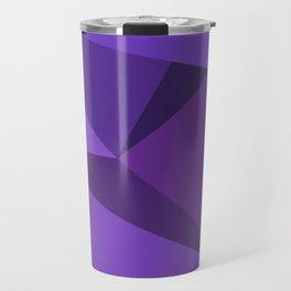 Royal Purple Fractal Pattern Travel Mug