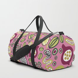 abstract fruit-salad  pink Duffle Bag