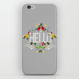 Hello blomster iPhone Skin