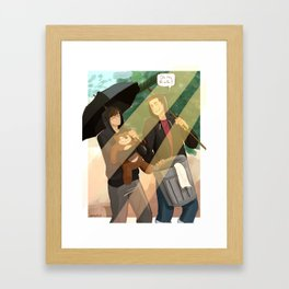 oh no neil Framed Art Print