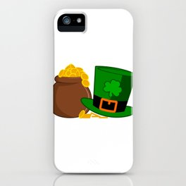ST PATRICKS DAY Shamrock GOLD KETTLE Gift Kids iPhone Case