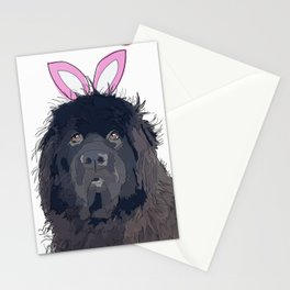 Happy Easter - Newfie Bunny Stationery Cards