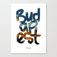 budapest Canvas Prints featuring Budapest by Mapa Barragan
