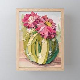 Cactus Paper Collage Framed Mini Art Print