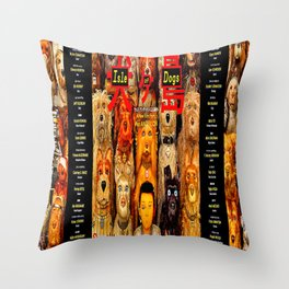 Dogs On The Isle Throw Pillow