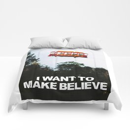 I WANT TO MAKE BELIEVE Fox Mulder x Mister Rogers Creativity Poster Comforters