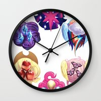 mlp Wall Clocks featuring MLP: Altogether Now by lolbatty