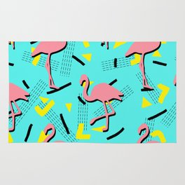Flamingos Memphis #society6 #decor #buyart Rug