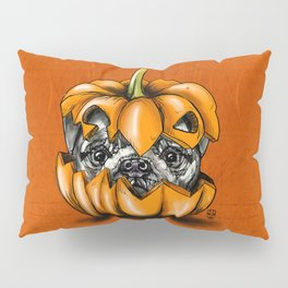 Halloween Pumpkin Pug Pillow Sham