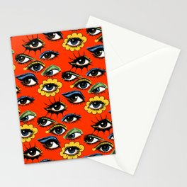60s Eye Pattern Stationery Cards