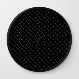 Diamond Plate Black  Wall Clock