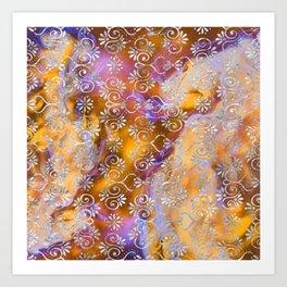 Psicodelic Adventure - Orange Art Print