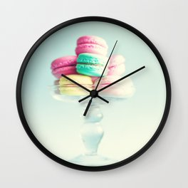 Macarons, macaroons, pop art Wall Clock