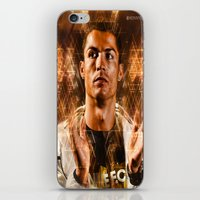 ronaldo iPhone & iPod Skins featuring Cristiano Ronaldo by Hussein